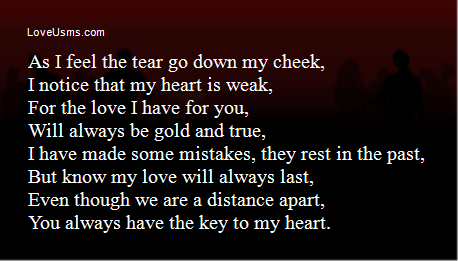 As I feel the tear go down my cheek,I notice that my heart
